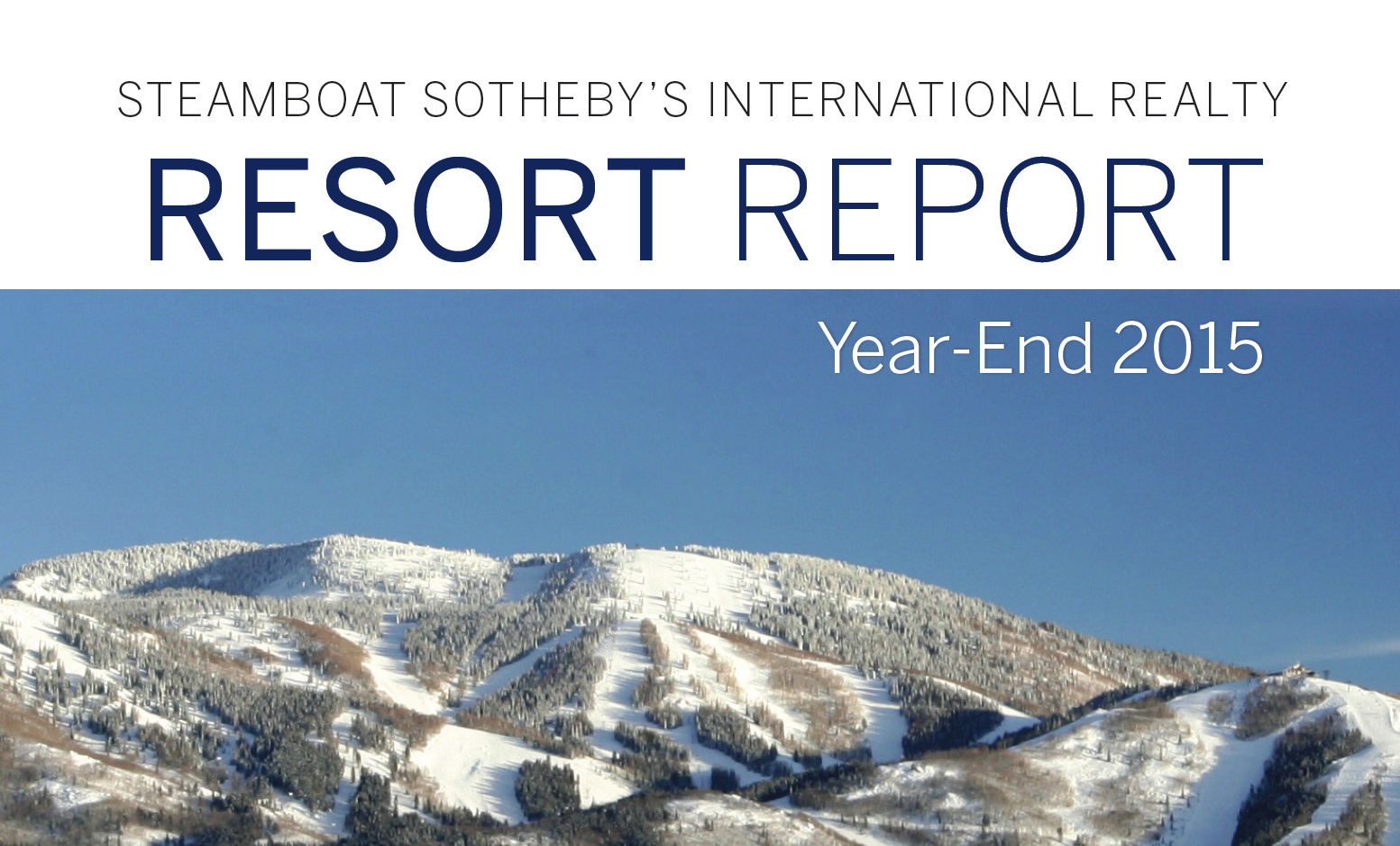 2015 RESORT COMPARISON REPORT