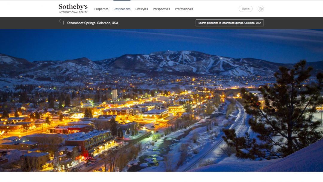 DESTINATION – STEAMBOAT SPRINGS