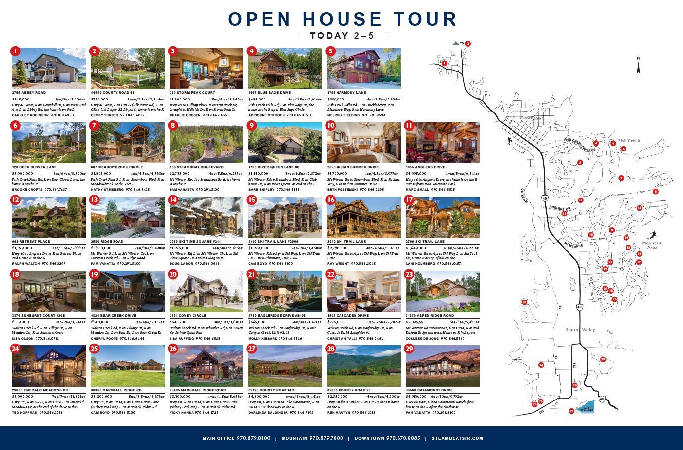 JULY 1 OPEN HOUSE TOUR