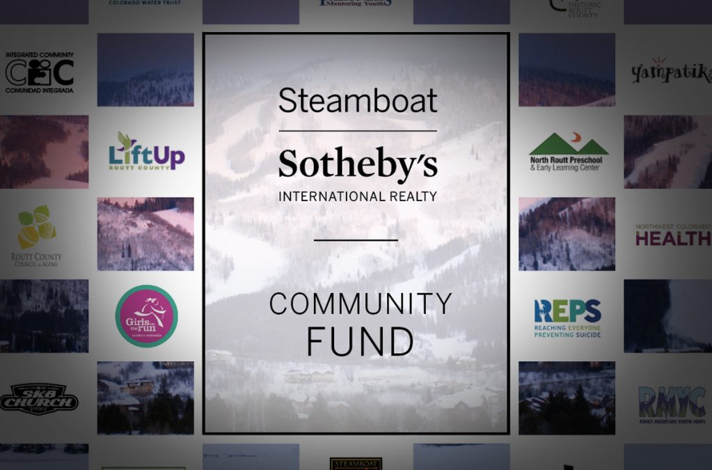 STEAMBOAT SOTHEBY'S COMMUNITY FUND GRANTS REACH MORE THAN $88,000