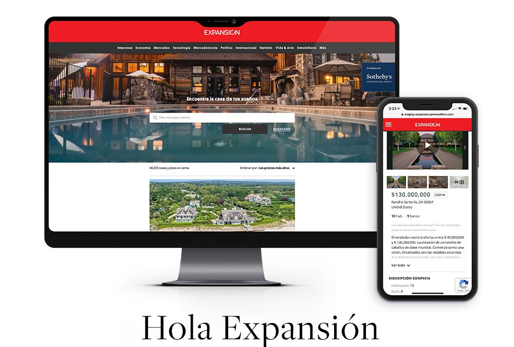 SOTHEBY'S INTERNATIONAL REALTY ANNOUNCES AFFILIATION WITH EXPANSIÓN