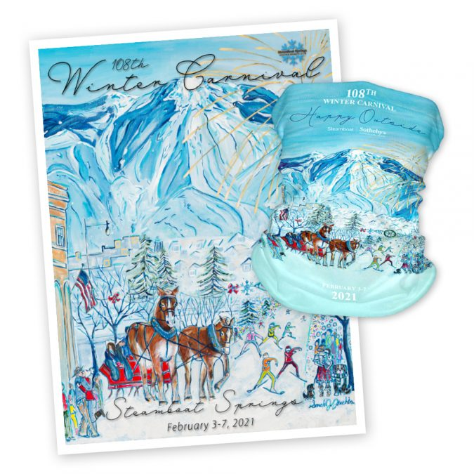 WINTER CARNIVAL POSTERS AND NECK GAITERS AVAILABLE FOR PURCHASE