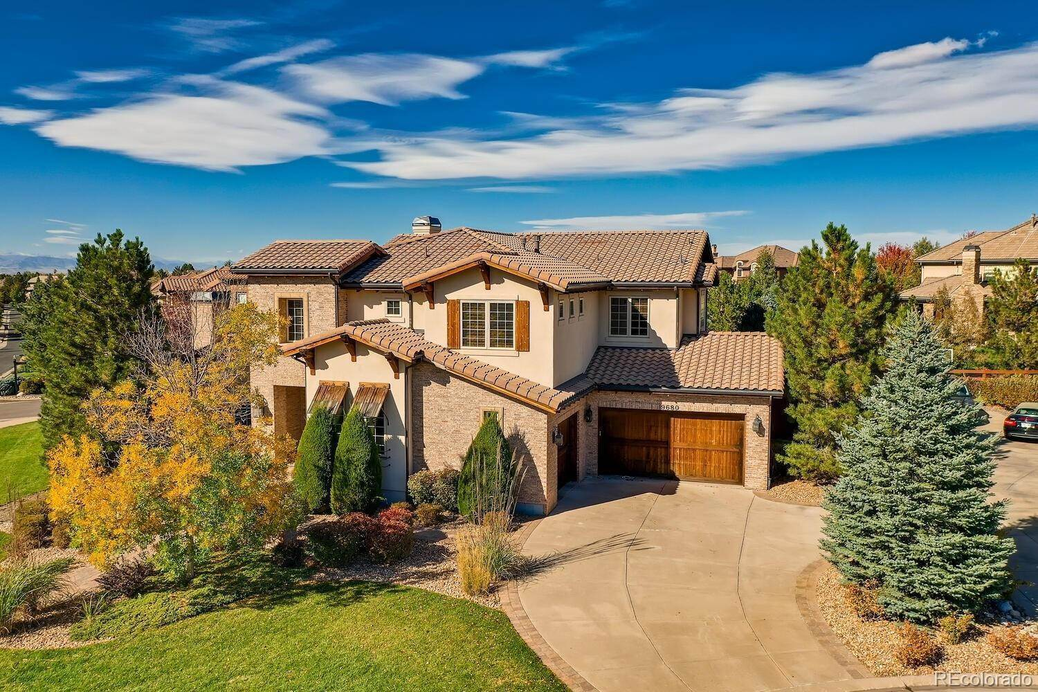 Single Family Homes for Sale at 9680 S Shadow Hill Circle Lone Tree, Colorado 80124 United States