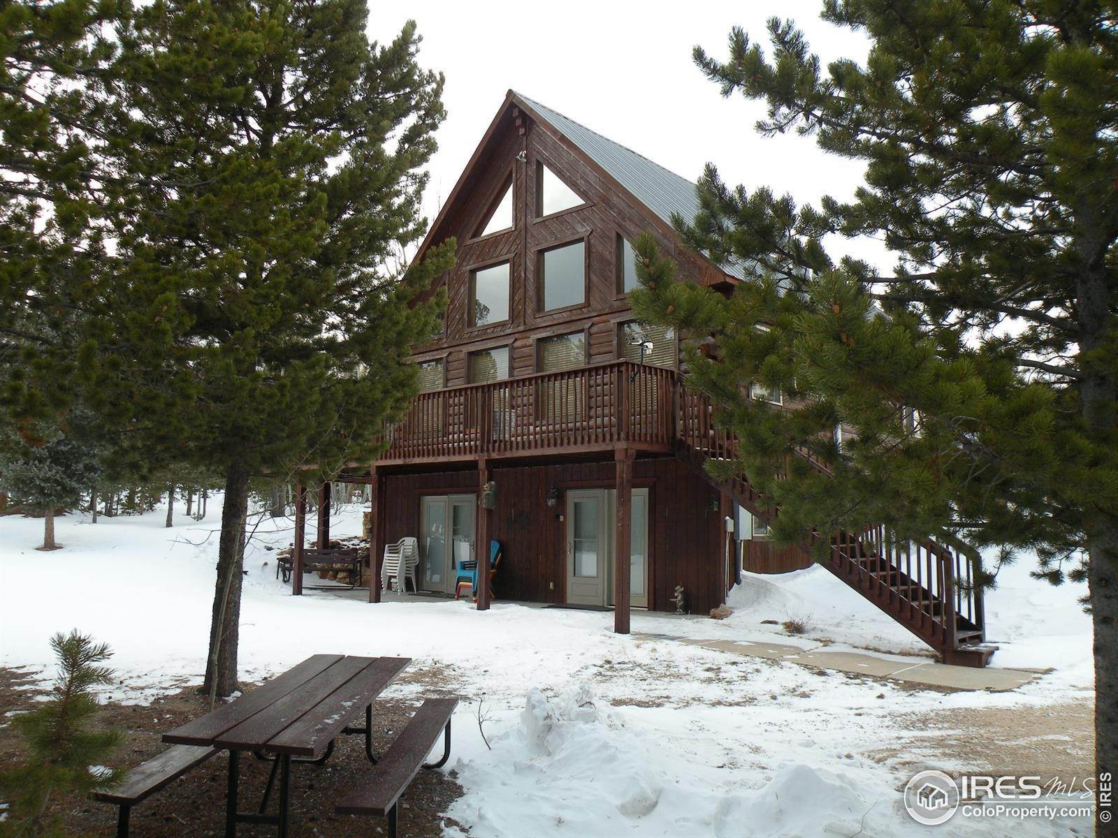 Single Family Homes pour l Vente à 621 Hatchetumi Drive Red Feather Lakes, Colorado 80545 États-Unis