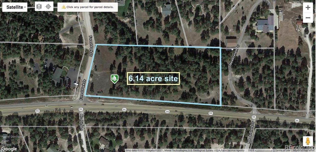 Land for Sale at 34050 Forest Park Drive Elizabeth, Colorado 80107 United States