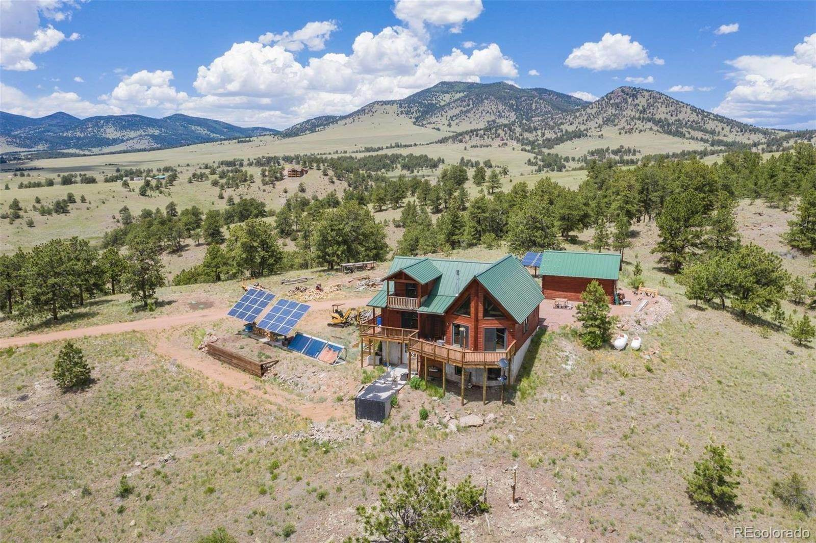 Single Family Homes for Sale at 396-B Eagle Nest Trail Guffey, Colorado 80820 United States