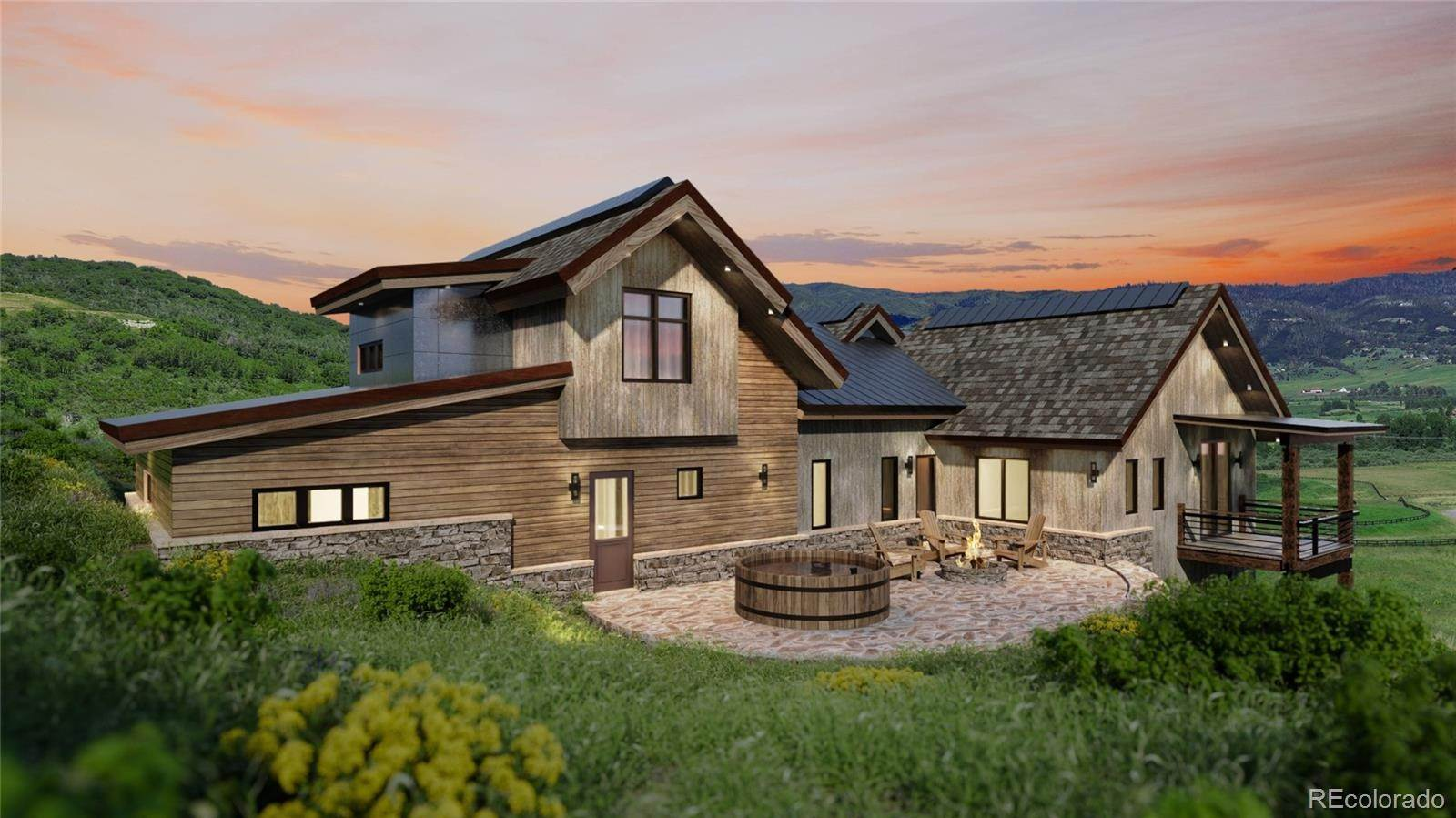 Single Family Homes pour l Vente à 33250 Meadow Creek Drive Steamboat Springs, Colorado 80487 États-Unis
