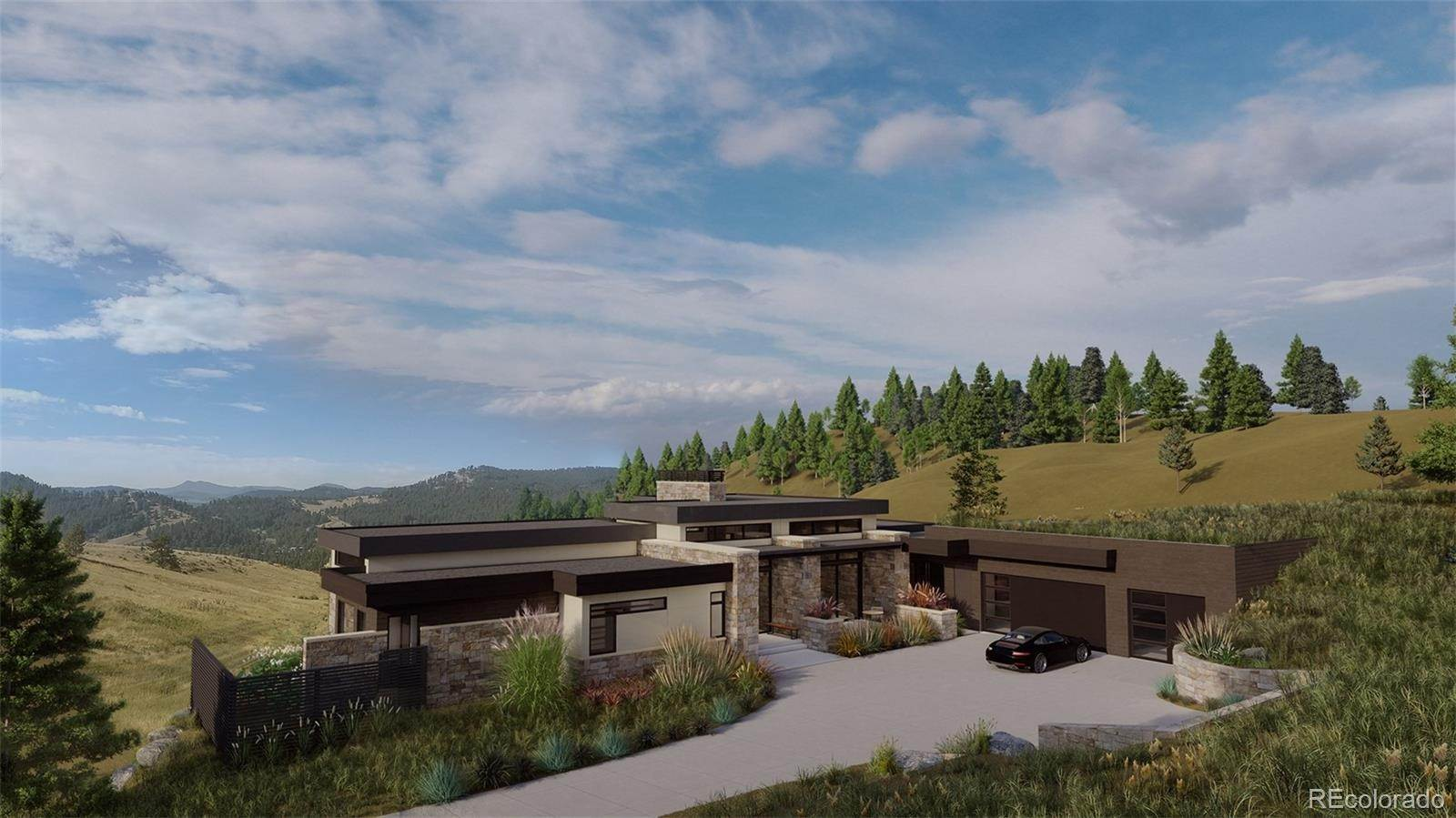 Single Family Homes pour l Vente à 435 Strada Rossa Road Golden, Colorado 80401 États-Unis