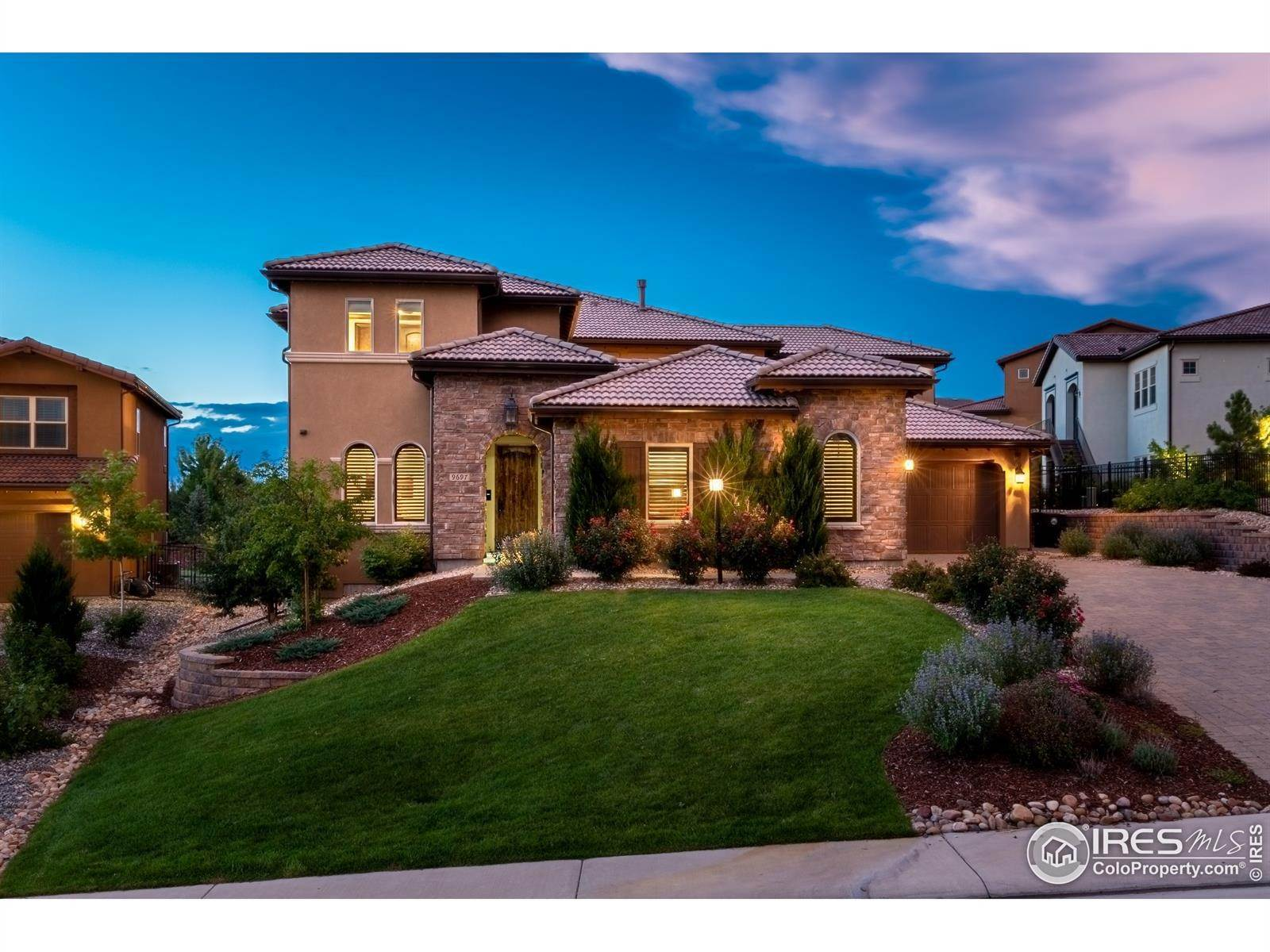 Single Family Homes for Sale at 9697 Vista Hill Trail Lone Tree, Colorado 80124 United States