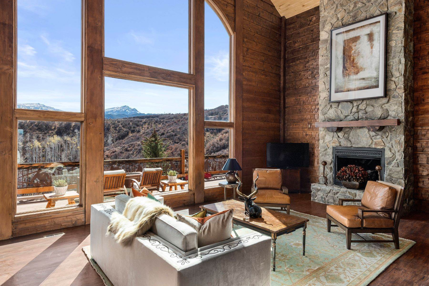 Single Family Homes for Sale at Old Snowmass - 49 acres of Solitude 343 Monastery Cutoff Road Snowmass, Colorado 81654 United States