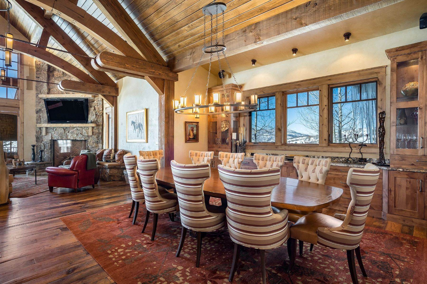 3. Single Family Homes for Sale at Beautiful Home at Catamount Ranch 33640 Catamount Drive Steamboat Springs, Colorado 80487 United States