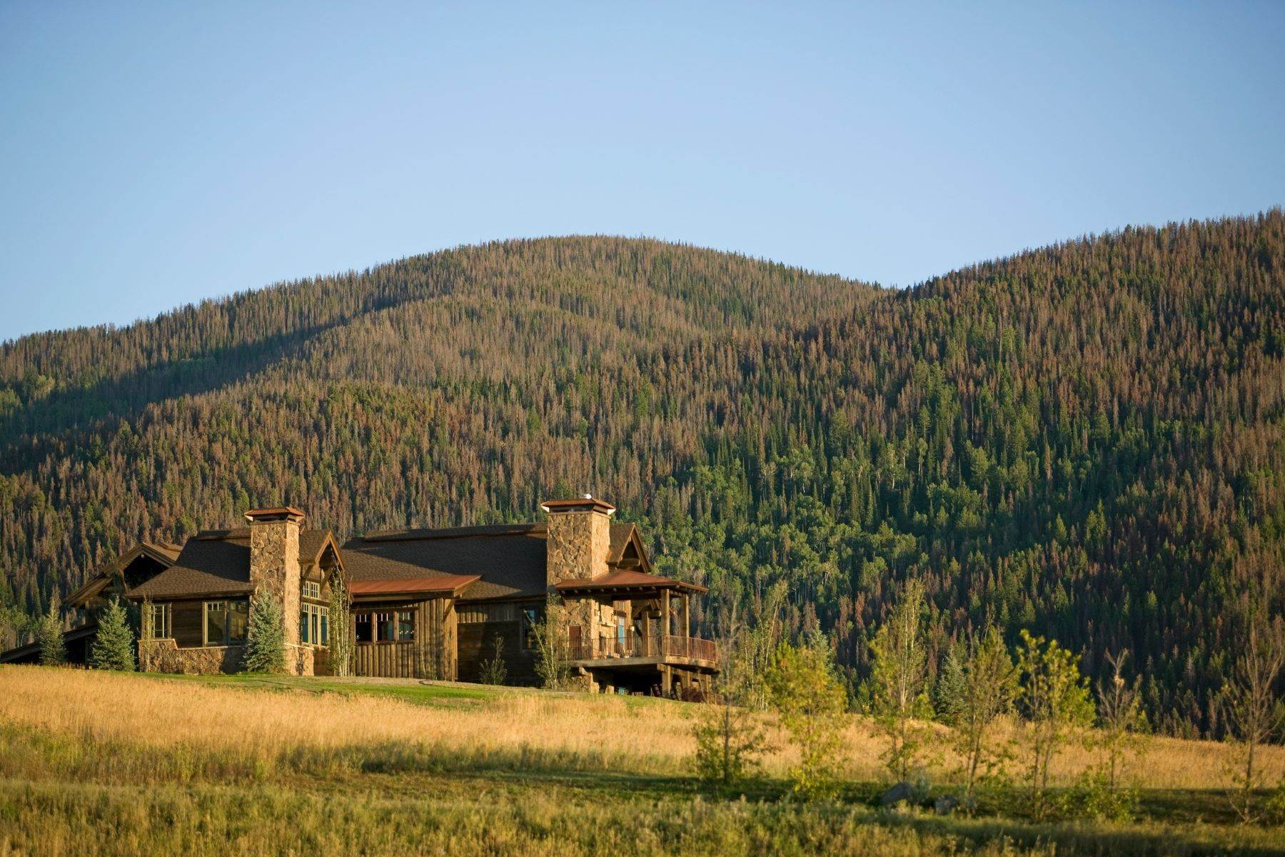 2. Single Family Homes for Sale at Beautiful Home at Catamount Ranch 33640 Catamount Drive Steamboat Springs, Colorado 80487 United States