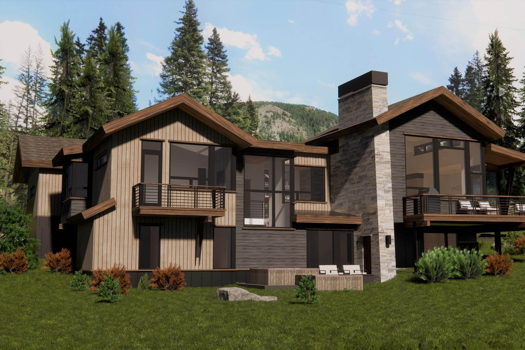 Single Family Homes pour l Vente à Fjall Haus 427 Whispering Pines Circle Blue River, Colorado 80424 États-Unis