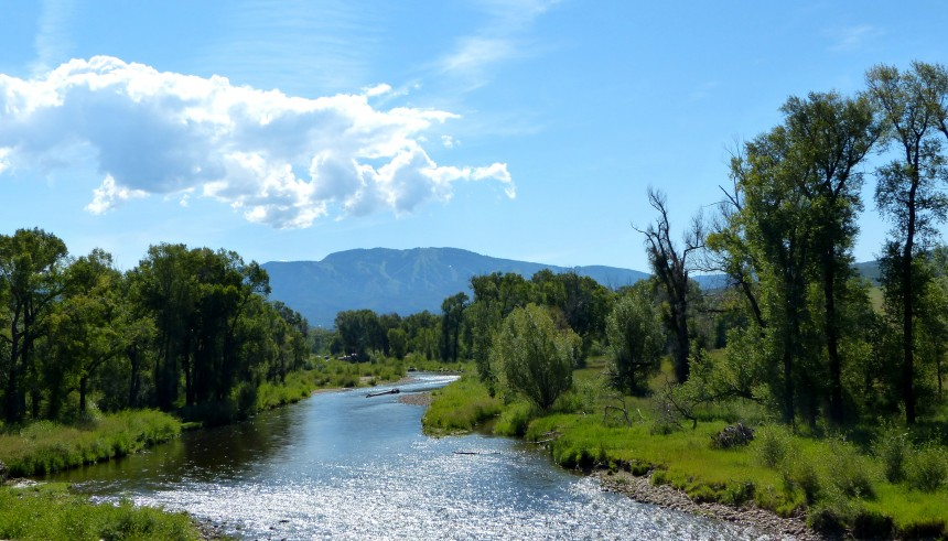 The Yampa River flows through Steamboat Springs, Colo.